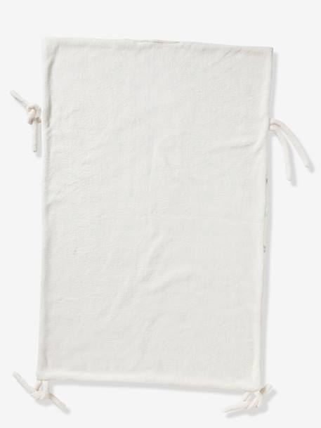 Vertbaudet Multi-Purpose Reversible Blanket GREY LIGHT ALL OVER PRINTED+WHITE LIGHT ALL OVER PRINTED