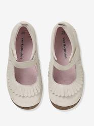 Shoes-Girls Footwear-Slippers-Girls' Leather Ballerina Shoes