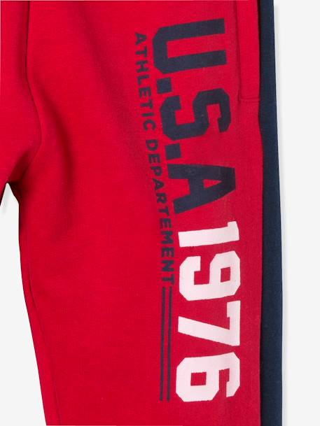 Boys' Fleece Joggers BLUE DARK SOLID WITH DESIGN+GREY LIGHT MIXED COLOR+RED DARK SOLID WITH DESIGN