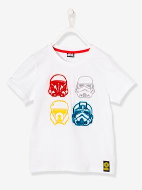 Boys' Star Wars® Top white light solid with design