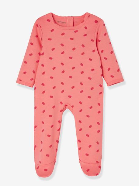 Babies' Pack of 3 Cotton Pyjamas, Press-studs on the Back PINK DARK 2 COLOR/MULTICOL OR