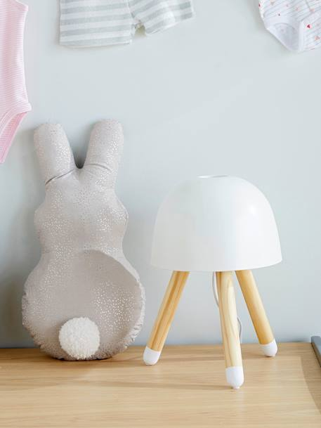 Sparkly Bunny Cushion GREY LIGHT ALL OVER PRINTED