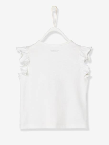Baby Girls' Top WHITE LIGHT SOLID WITH DESIGN