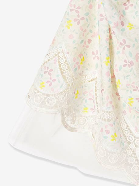 Girls Printed Occasion Dress PINK BRIGHT ALL OVER PRINTED+WHITE LIGHT ALL OVER PRINTED+YELLOW MEDIUM ALL OVER PRINTED