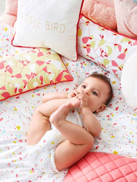 Children's Duvet, Birdie Love Theme PINK MEDIUM SOLID