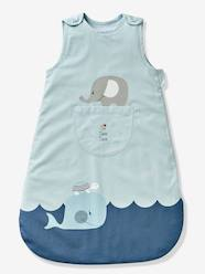 Furniture & Bedding-Sleeveless Baby Sleep Bag, Whale Theme