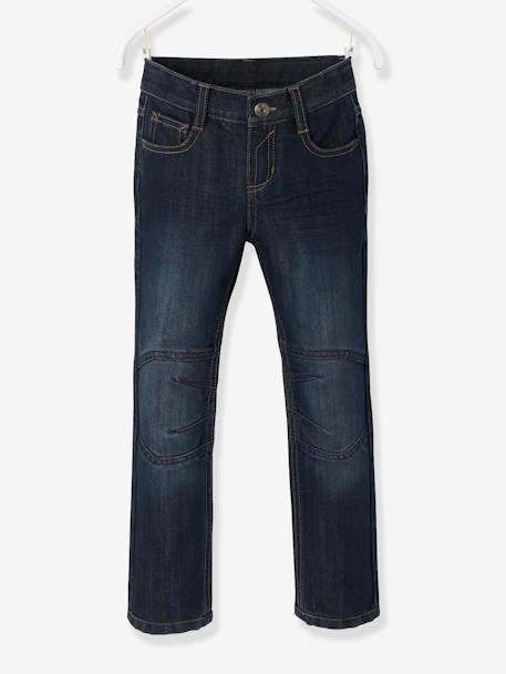 Boys Indestructible Straight-Cut Jeans BLUE BRIGHT SOLID+GREY MEDIUM WASCHED