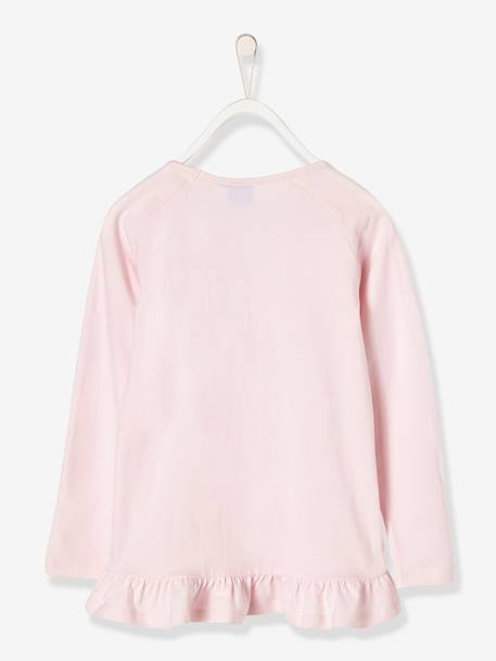 Girls' Top with Sequins, Frozen® PINK LIGHT SOLID WITH DESIGN
