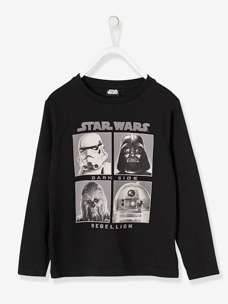 Boys' Star Wars® Top BLACK DARK SOLID WITH DESIGN