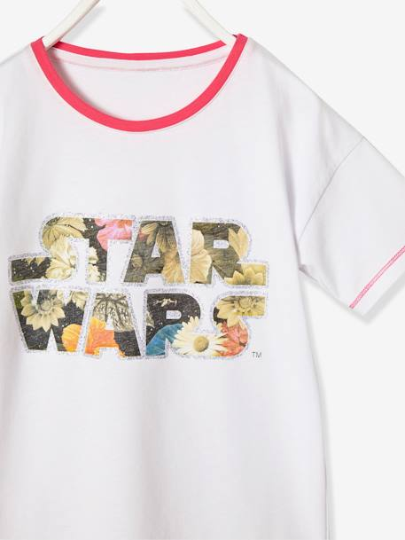 Girls' Printed Star Wars® Pyjamas WHITE LIGHT SOLID WITH DESIGN