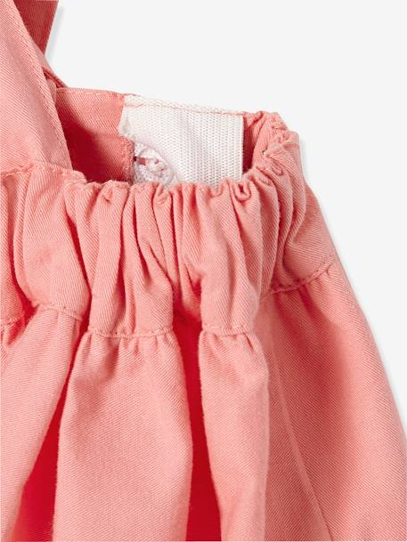 Girls' Short Skirt with Braces PINK LIGHT SOLID