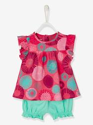 Baby Girls' Top and Loose-Fitting Shorts