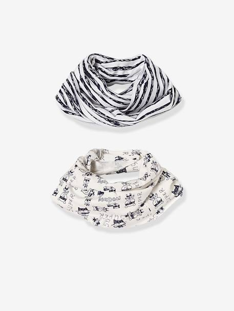 Baby Boys' Pack of 2 Printed Snoods BLUE DARK TWO COLOR/MULTICOL
