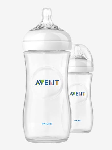 Set of 2 Philips AVENT Natural BPA-free 330 ml Feeding Bottle Clear