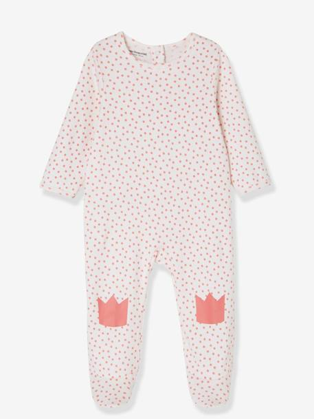 Babies' Pack of 2 Cotton Pyjamas, Press-studs on the Back WHITE LIGHT TWO COLOR/MULTICOL