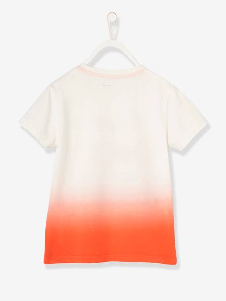 Boys' T-Shirt GREEN LIGHT SOLID WITH DESIGN+ORANGE BRIGHT SOLID WITH DESIG