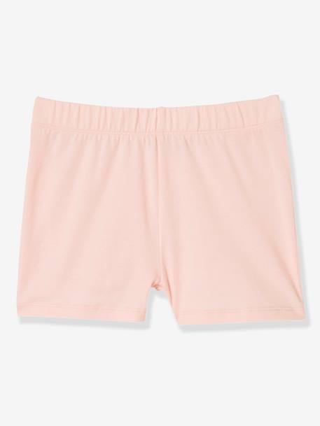 Girls' Pack of Shorties PINK LIGHT SOLID