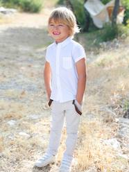 Boys' Short-Sleeved Plain Shirt