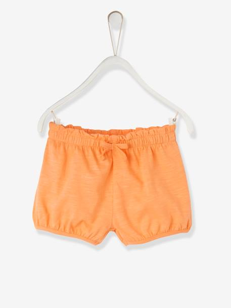 Baby Girls' Jersey Knit Shorts GREY LIGHT MIXED COLOR+ORANGE MEDIUM SOLID+PINK BRIGHT SOLID+WHITE LIGHT SOLID