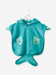 Furniture & Bedding-Bathing-Bath Capes-Babies' Beach Poncho, with Hood, Shark Motif