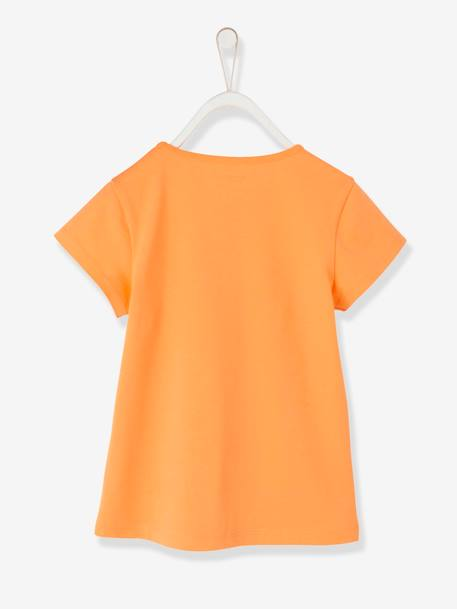 Girls' T-Shirt, with Bird GREEN LIGHT SOLID WITH DESIGN+ORANGE MEDIUM SOLID WITH DESIG+WHITE LIGHT SOLID WITH DESIGN