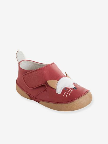 Baby Soft Leather Shoes RED MEDIUM SOLID