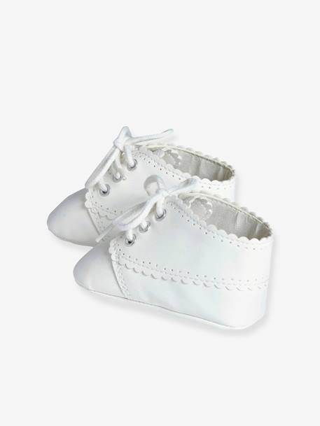 Newborn Baby Soft Lace-Up Ankle Boots Off-white
