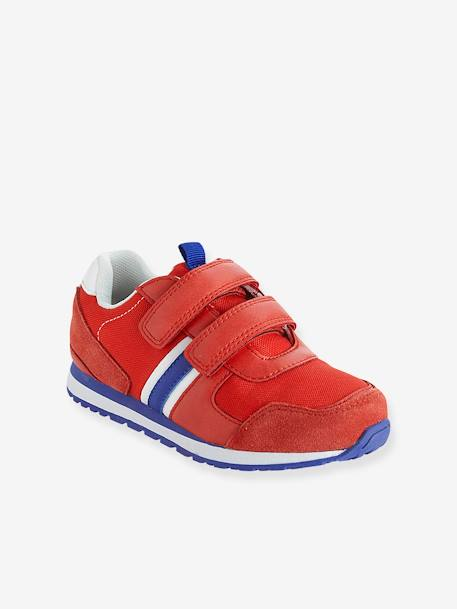 Trainers With Touch N Close Fastening BLUE BRIGHT SOLID+Red
