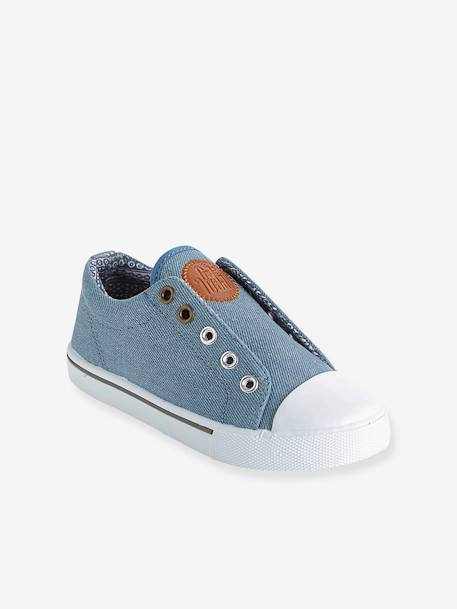 Canvas Trainers Denim blue+GREEN MEDIUM ALL OVER PRINTED+Printed navy