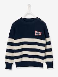 Boys-Cardigans, Jumpers & Sweatshirts-Jumpers-Sailor-Style Top for Boys
