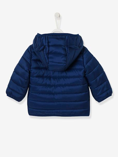 Babies' Lightweight Jacket with Stylish Hood BLUE MEDIUM SOLID+RED BRIGHT SOLID+YELLOW MEDIUM SOLID