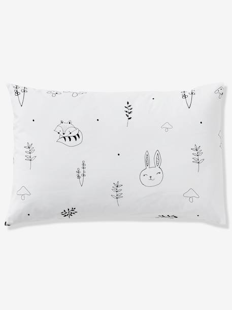 Baby Pillowcase, Magic Forest Theme WHITE LIGHT SOLID WITH DESIGN