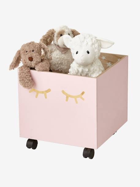 Box on Wheels, Sweet Night PINK LIGHT SOLID WITH DESIGN