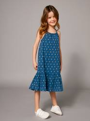 Girls-Dresses-Long Dress with Ruffle