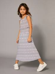 Girls' Long Printed Dress