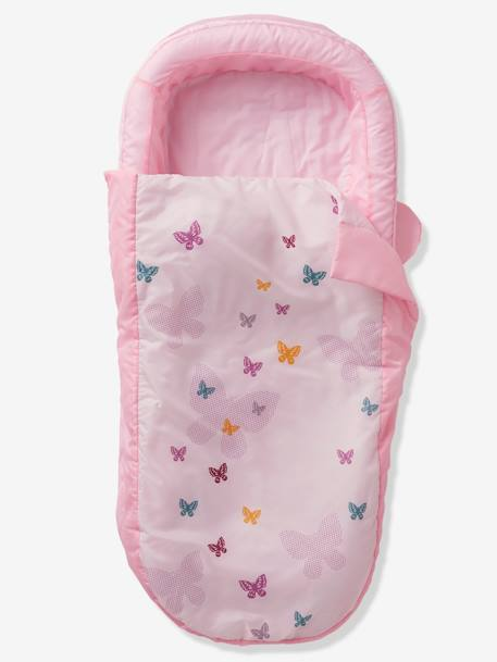 Readybed® Sleeping Bag with Integrated Mattress and Headboard, Flight Theme PINK LIGHT SOLID WITH DESIGN