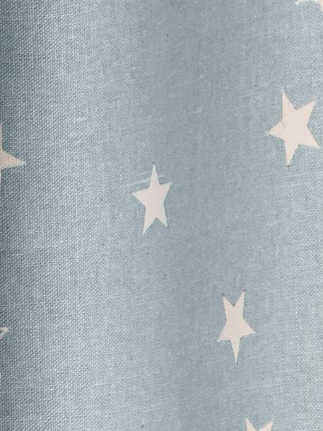 Hollow Star Starry Curtain Blue
