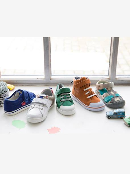 Boys' Trainers, Autonomy Collection BLUE MEDIUM SOLID+GREEN MEDIUM SOLID+WHITE LIGHT ALL OVER PRINTED