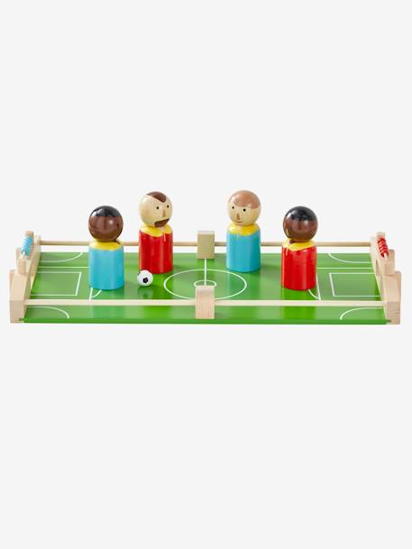 Wooden Mini Football Game BROWN MEDIUM SOLID WITH DESIGN