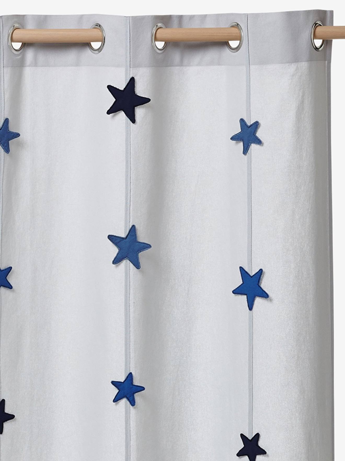 Boys Curtain Adventurer Theme Grey Stars Bedding Decor Vertbaudet
