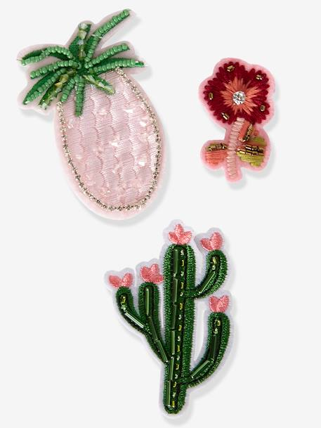 Girls' Pack of 3 Exotic Pin-On Patches NO COLOR