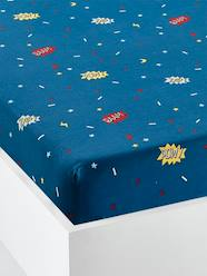 Furniture & Bedding-Child's Bedding-Fitted Sheets-Children's Fitted Sheet, Super cat Theme