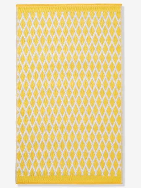 Outdoor Rug YELLOW MEDIUM SOLID WTH DESIGN