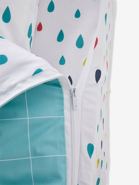 An easy to close ready-for-bed set with PIN PON duvet: 4-Piece Set GREEN LIGHT ALL OVER PRINTED