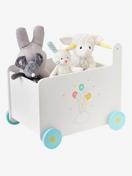 Box on Wheels, Balloons WHITE LIGHT SOLID WITH DESIGN