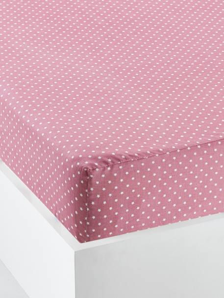Baby Fitted Sheet, Spring Theme PINK DARK ALL OVER PRINTED
