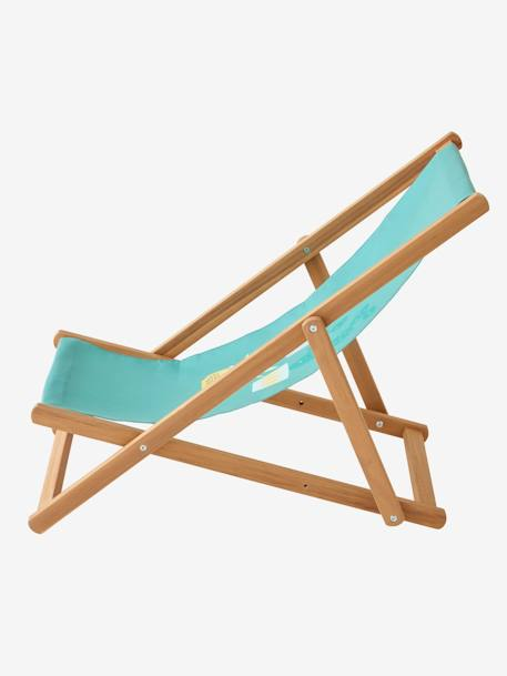 Children's Deck Chair, Cactus GREEN LIGHT SOLID WITH DESIGN
