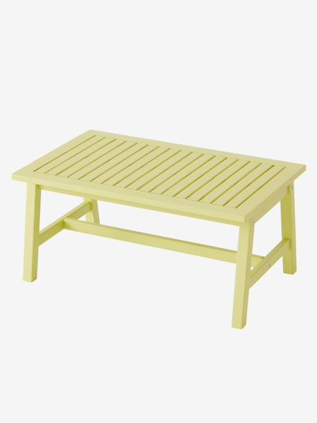 Low Table, Pistachio YELLOW LIGHT SOLID