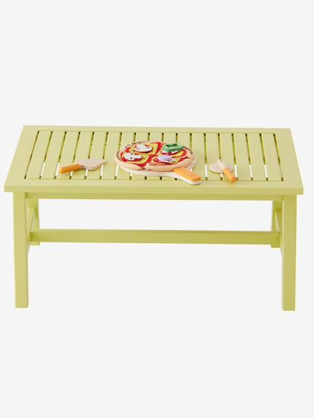 Small Pistachio Table YELLOW LIGHT SOLID