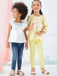 Girls' Embroidered Blouse, with Frills